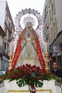 2005. La Virgen preside el Rosario de las Misiones Parroquiales