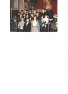 Año 1988. Recital de Villancicos en la Hdad. sevillana del Beso de Judas