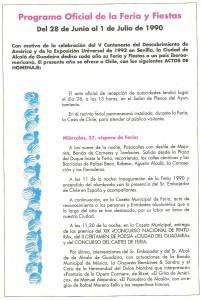 Año 1990. Cartel Anunciador de la Feria de Alcalá.
