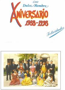 Año 1988. Logo de nuestro 10º Aniversario Autor: José M. Saavedra.