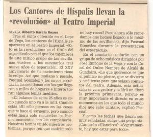 Año 2000. Sevilla reza cantando.