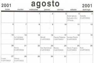 Año 2001. Gira con los Cantores de Híspalis.