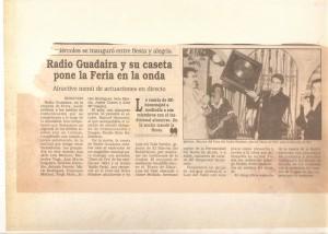 Año 1991. Entrega del disco de Oro Feria de Alcalá Caseta de Radio Guadaira